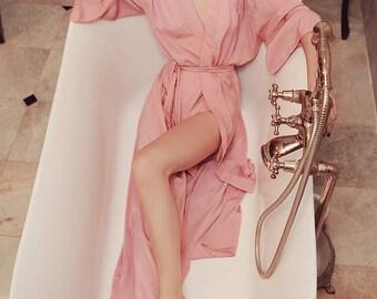 Lelasilk Luxury Long Silk Robe/ Bridal/ Bridesmaids/ Wedding/ Kimono/ Sleepwear/ Pajamas/ Lingeries/ Gift for her