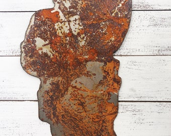 "Lake Tahoe - 8"" Rusty, Rustic Metal Tahoe Outline - Make your own Sign, Gift, Art!"