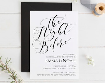 Rehearsal Dinner Invitation Editable Printable Template Instant