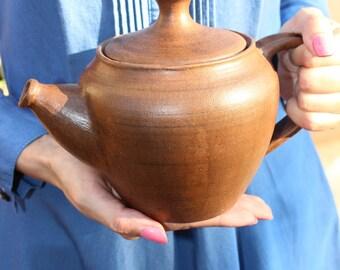 ceramic large teapot with lid handmade teapot tea ceremony rustic gift pottery teapot clay teapot unglazed rustic teapot stoneware eco