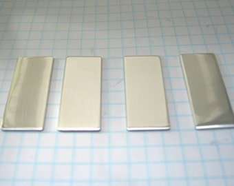 """Sterling Silver  5/8"""" by 1.5"""" 18 gauge Finished  Rectangle Blanks Quality Jewelry Making Supplies"""