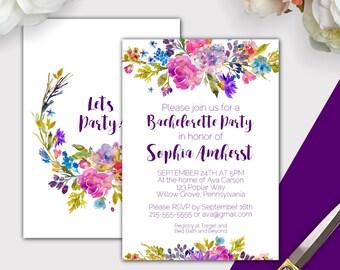 Gold And Black Bachelorette Party Invitation With Itinerary - Party invitation template: bachelorette party itinerary template