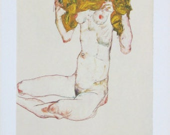 "Schiele Egon, 33, Lithograph,""The Virgin"" printed1968  -e"