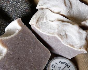 Men's Soap, Homemade Soap, Natural Vegan Soap, 4.5-5 oz., Highland Tweed, Homemade Soap, Vegan
