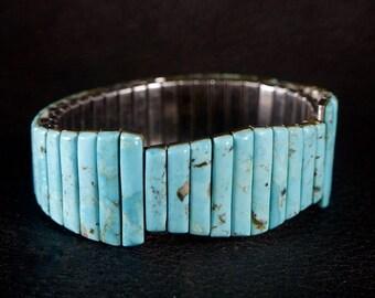 Turquoise Stone Watch Band Bracelet