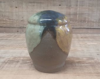 Custom Cremation Urn - Stoneware Cremains Jar - HORIZON
