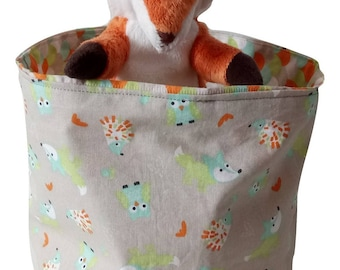 Basket / tidy foxes, owls