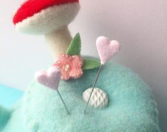 Coeur Saint-Valentin rose sucrée