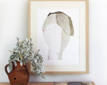 Minimalist Abstract Modern Art with Clear Face, A3 Giclee Fine Art Print