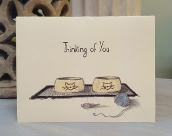 Pet Loss Sympathy Card - Cat