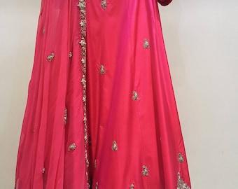 Hot pink lehenga choli Indian Pakistani wear