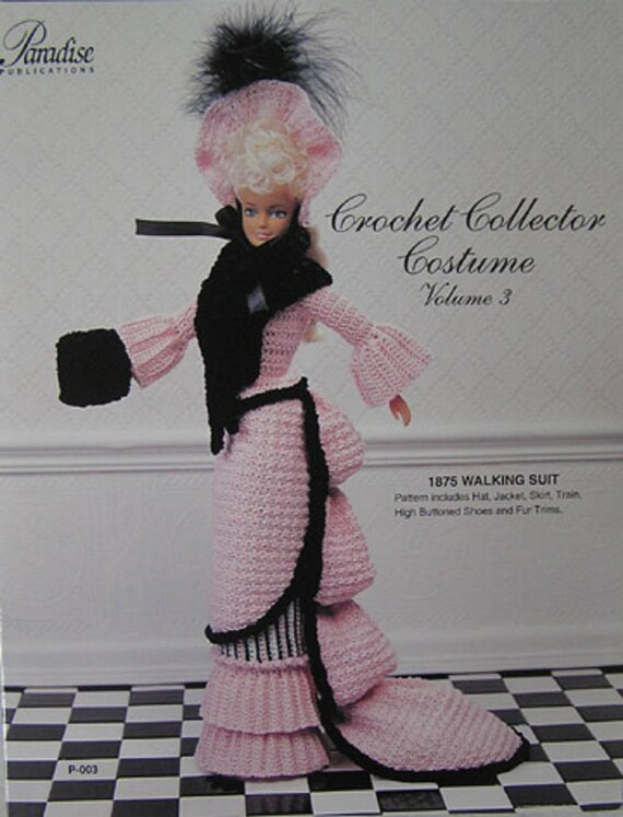 Paradise Publikationen häkeln Sammler Kostüm Mode Puppe Muster