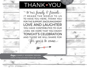 thank you sign, thank you tag, guest favor, wedding favor, wedding sign, wedding thank you card, instant download, printable