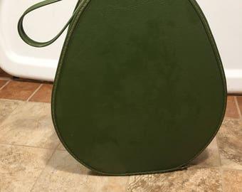 Vintage 1970s green makeup train bag luggage