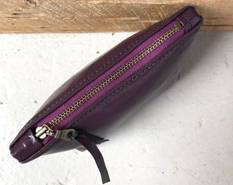 Small Purple Patent Leather Ditty Bag