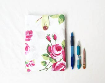Floral IPad Mini case, fabric tablet sleeve, pink rose fabric, Ipad Mini cover, IPad mini 2, birthday gift for teen, handmade in the UK