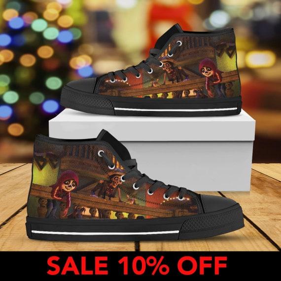 Top Pixar Converse Coco Custom Shoes Sneaker Converse Custom Coco Movie Coco Pixar Coco Shoes Coco Birthday High Custom Disney Shoes f4RgRnq