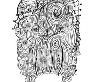 Hair Full of Secrets Print