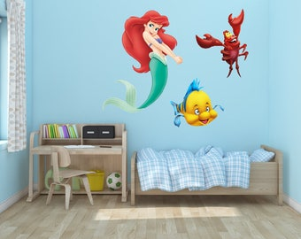 Little Mermaid Vinyl Wall Decal Set of 3