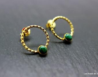 circle gold circles earrings, dangle earrings