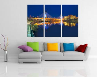 Boston Skyline Wall Art   Large Travel Wall Art Canvas   Wall Art Canvas    Free