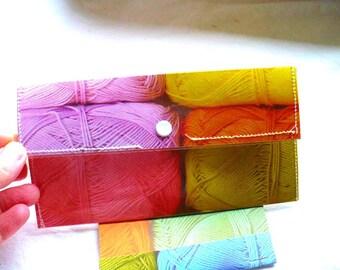 Womens Wallet, Envelope System, Cash Envelope Wallet, Snap Wallet, Vinyl, Retirement Gift, Hand Stitched, Slim Wallet, Notepad