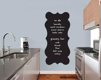 Fancy Chalkboard - Chalkboard Office Kitchen Kids Room Wall Decals