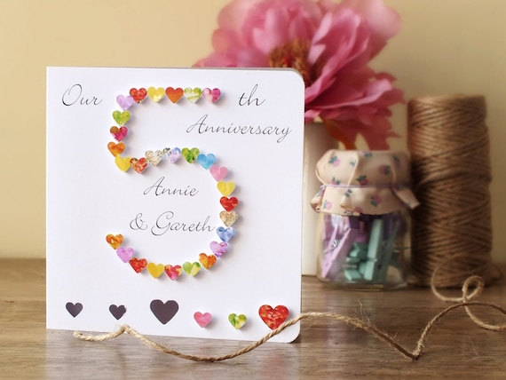 Ideas For Wedding Anniversary Gifts For Husband: 5th Wedding Anniversary Card Personalised 5th Anniversary