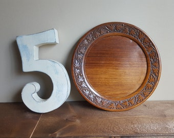 Vintage Wood Plate with Maple Detail