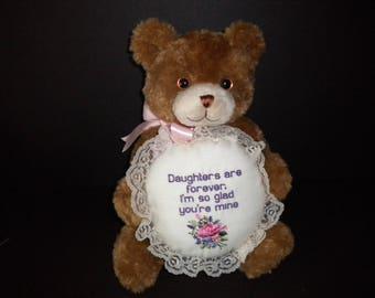 Daughter gift, plush bear, pillow, birthday gift, bedroom decoration, girl gift,