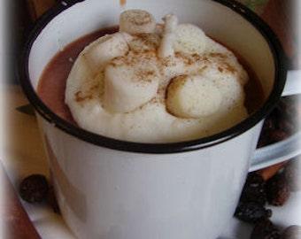 20 oz   Hot Chocolate  Enamelware Mug Candle
