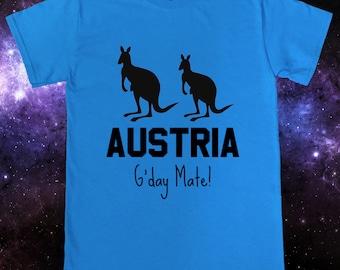 Funny Australia Austria Kangaroo T-Shirt