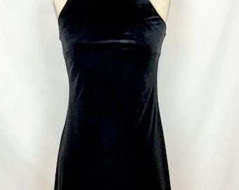 Maurices // Velvet Spaghetti Strap Dress // Black