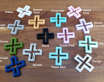 Silicone Swiss Cross Teether