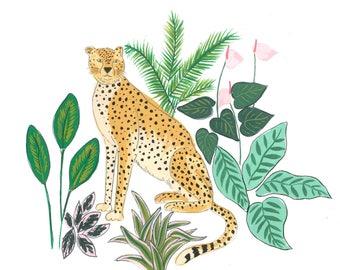Cheetah A4 print