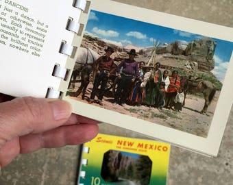 Vintage New Mexico Souvenir Photo books, Indian Life of the Southwest, 2 Kodachrome