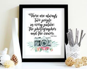 Ansel Adams Printable Quote, Ansel Adams Photography Quote Printable, Photography Wall Art, Vintage Camera Wall Art, Photographer Quote,