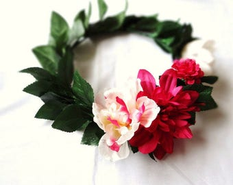 Floral Headpiece, Boho Flower Crown, Floral Head Wreath