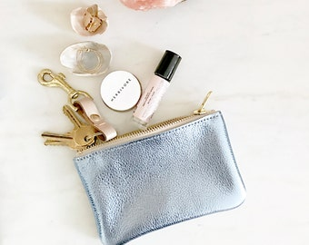 LUCY Small Leather Pouch. Leather Wallet. Leather Change Purse. Leather Clutch
