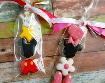 5 MICKEY or MINNIE MOUSE Themed Sugar Cookie Mini Packs