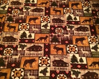 North woods fleece blanket
