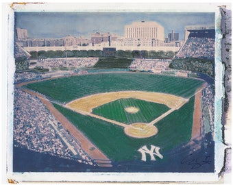 MLB NY Old Yankee Stadium Field Polaroid Transfer 8x10 Download