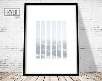 Cloud Print, Minimalist Design Art Print, Modern Photography Print, Sky Art, Cloud Art, Cloud Art Print, Nature Abstract Art, Living Room