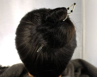 Silver Double Sided Hair Sticks