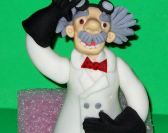 Mad Scientist Nutty Professor and Beaker Cake Topper