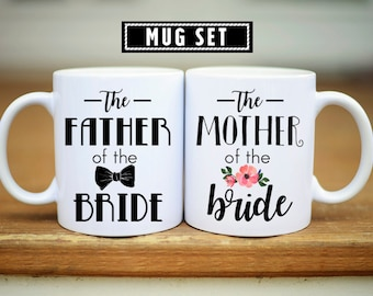 Father of the Bride Mug, Father of the bride Gift, Mother of the Bride Gift, Mother of the Bride Mug, Mother of the Bride, Wedding Mugs, Mug