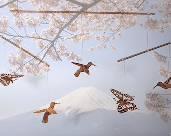 Cherry Blossom Wooden Mobile to tinkering