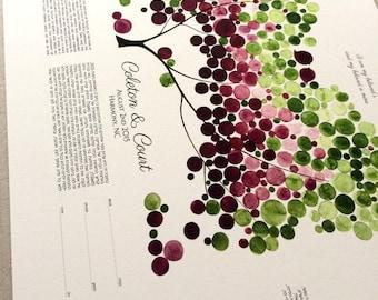 Interfaith Modern Ketubah art print - Spring Tree of Life by OnceUponaPaper - Design from Watercolor by Elena Berlo