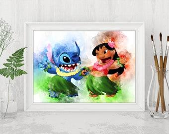 Lilo and Stitch Printable Lilo and Stitch Disney Print Disney Lilo and Stitch Instant Download Disney Birthday Printable Art n542