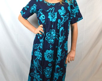 Vintage 1960s Hawaiian Maxi Dress - Lauhala
